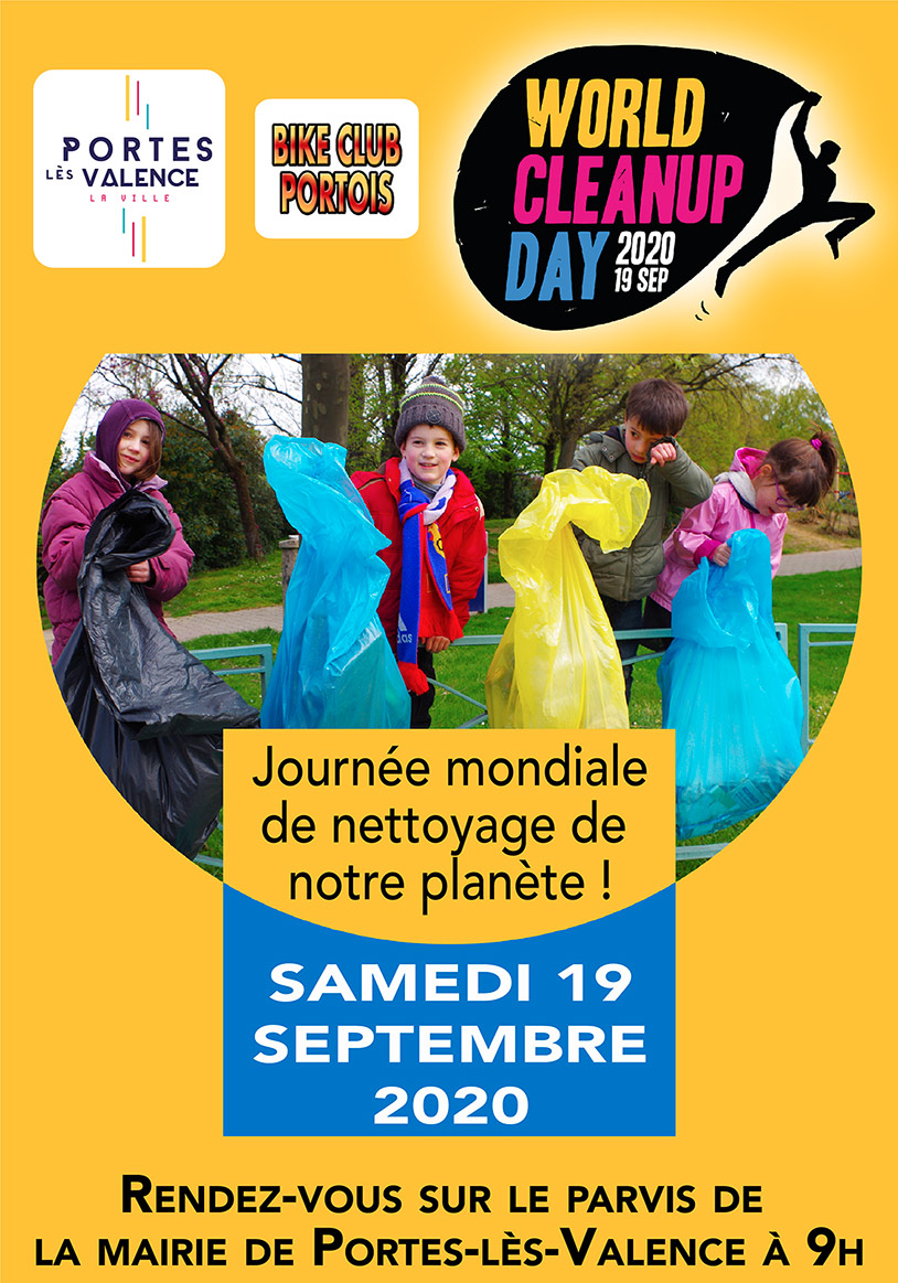 Affiche world Clean Up Day 2020