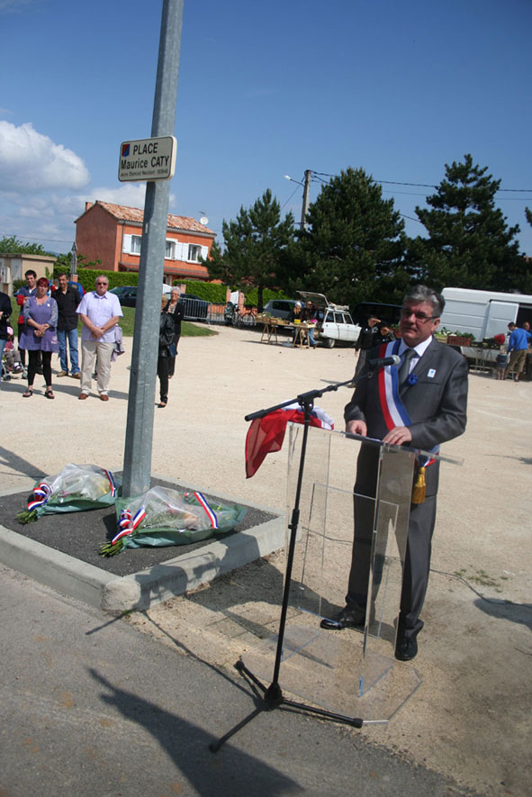 Inauguration Place Maurice Caty